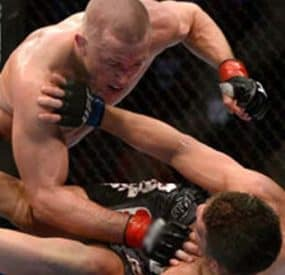 Georges St-Pierre Defeats Diaz at UFC 158