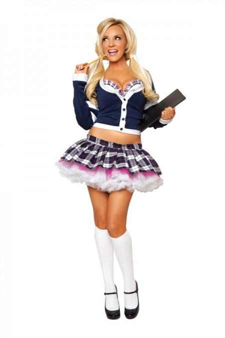 Bridgett Marquedt School Girl Costume