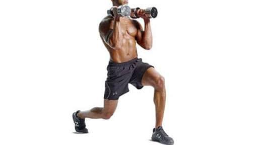 Dumbbell Lunge Exercises for Ripped Legs