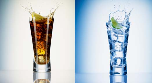 Carbonated Beverages vs. Carbonated Water