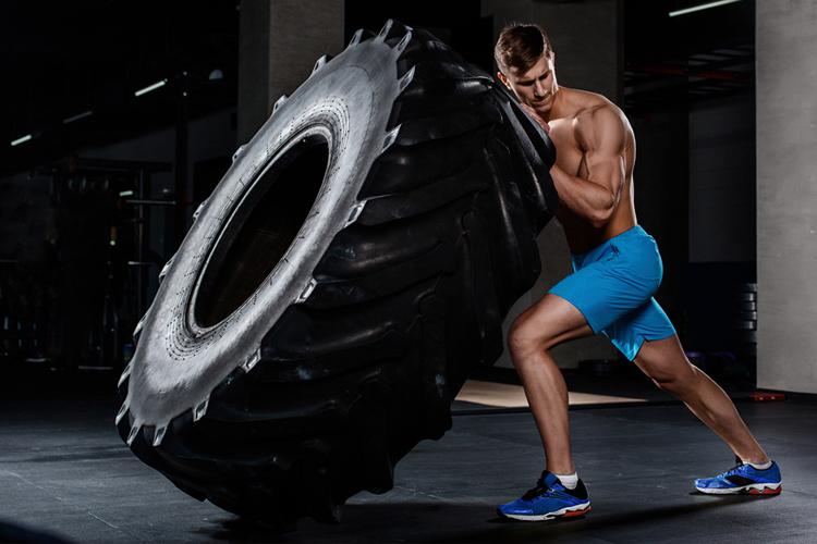 hiit training tire flip