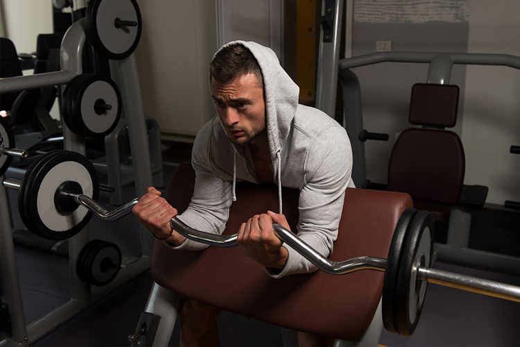 Best Science Based Bicep Workouts to Increase Size and Strength - EZ Bar curl