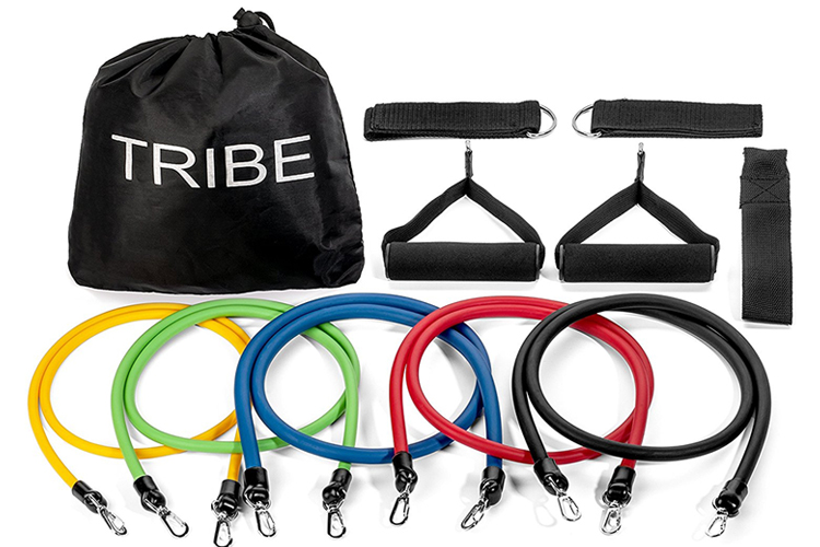 Fitness Gifts for Men who like to Workout - Tribe Resistance Band Set