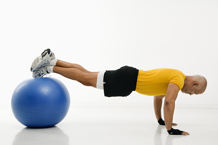 The Top Workout Finishers to Increase Fat Burn - stability ball roll out