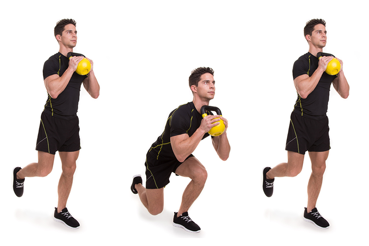 The Split Squat - How to Incorporate this Power Leg Exercise in your Workout Kettle Bell Front Squat
