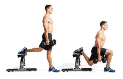 The Split Squat - How to Incorporate this Power Leg Exercise in your Workout - split squat with dumbbells