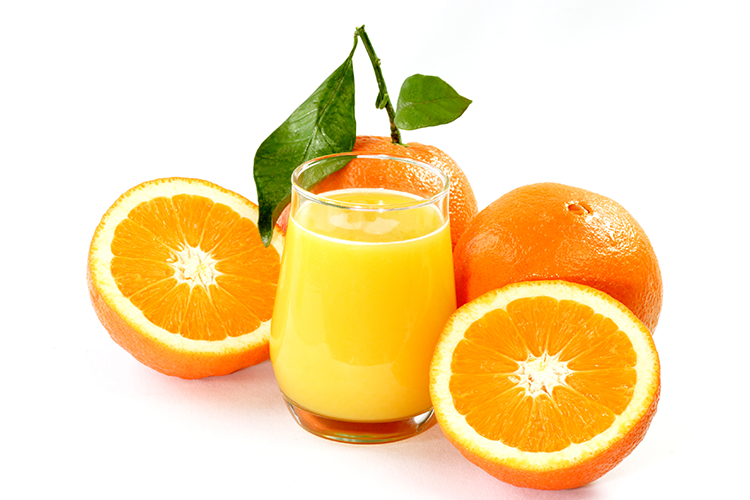 orange juice loaded with vitamin-c