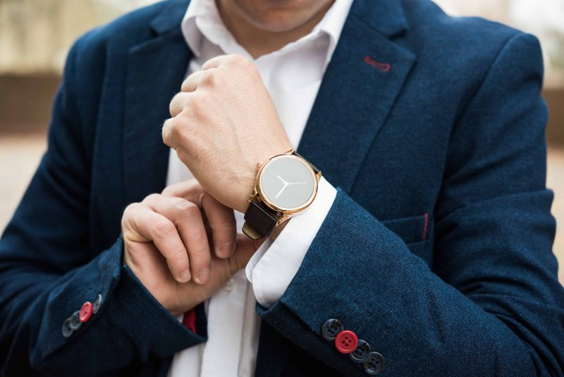 Stylish watch with gold accent