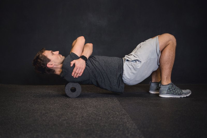 warm up exercise with foam rollers