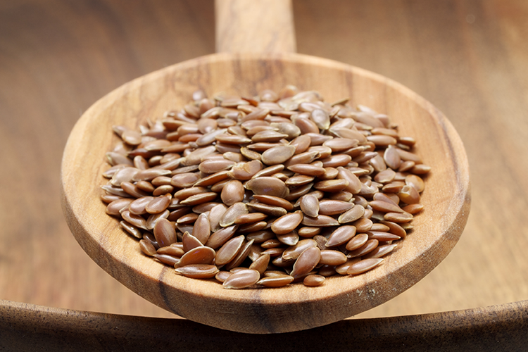 The fibrous Flax Seeds