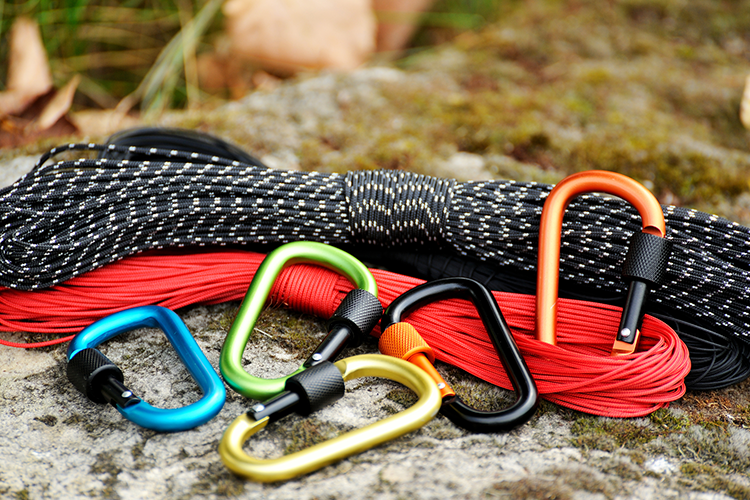 Carabiners to help the climber