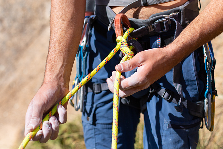 Supreme quality climbing harness and ropes