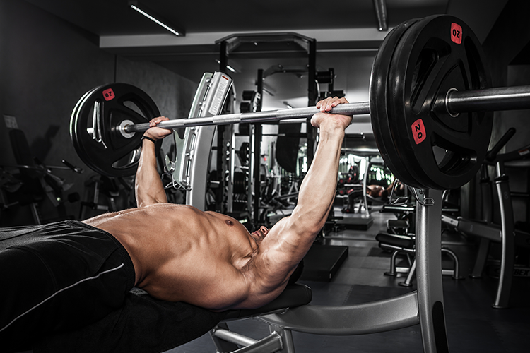 Bench press exercise when mass building is priority