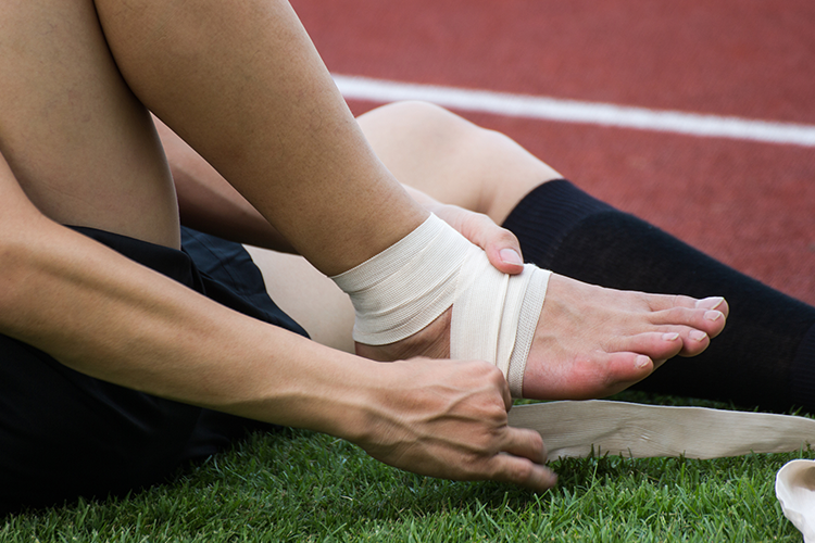 compression technique for relief against muscle strain