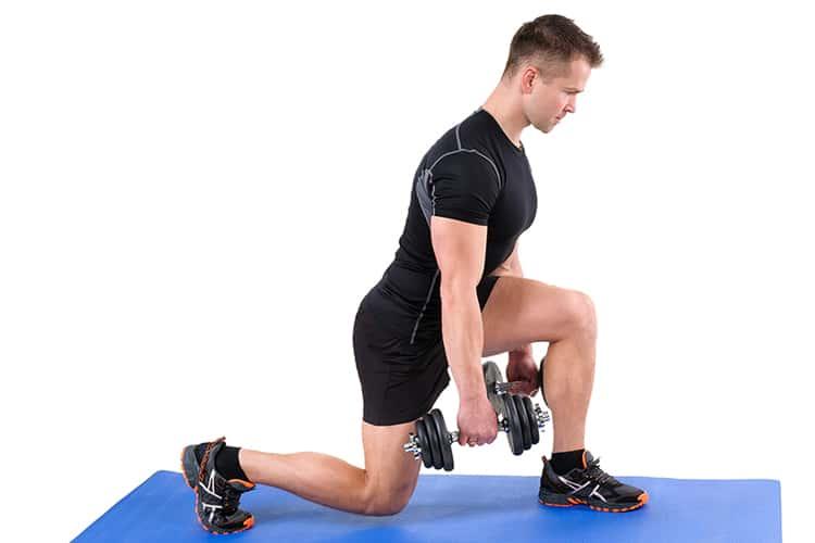 weight training lunge