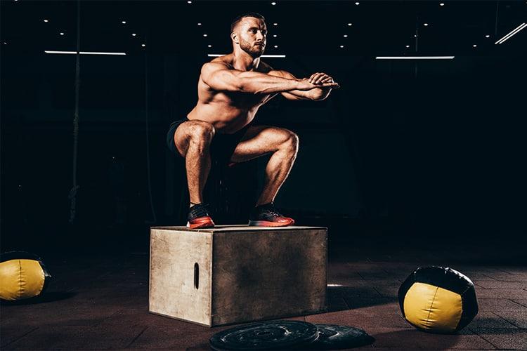 HIIT Training box jumps