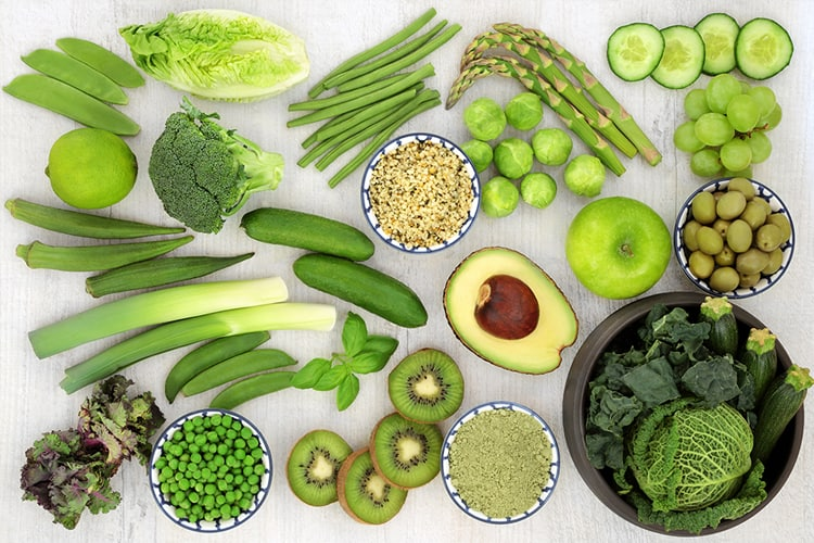 ways to eat healthy green fruit and vegetables