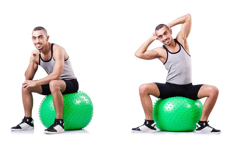 Healthy Remote Work Habits Exercise - Balance Ball